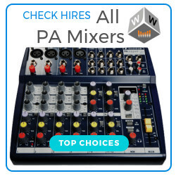 pa mixer hire london