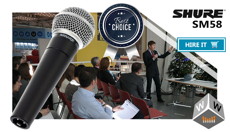 shure microphone hire london