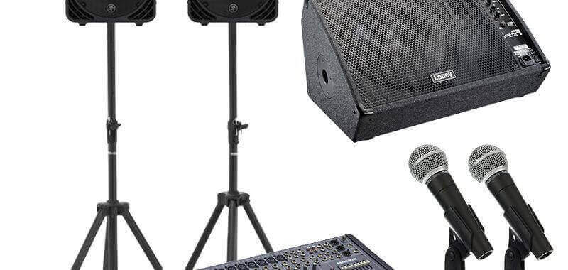 hire sound equipment band