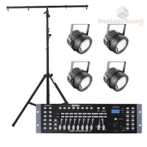 Stage Lighting Package (4 Halogen Lamps)